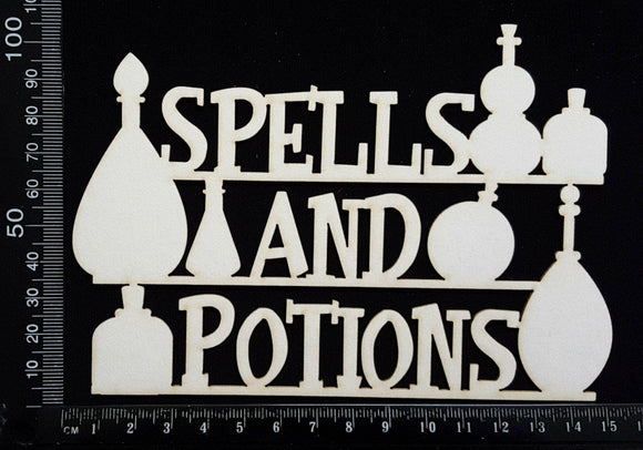Spells & Potions - B - White Chipboard
