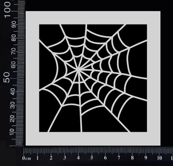 Spider Web - A - Stencil - 100mm x 100mm