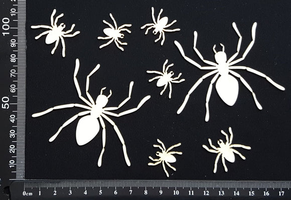 Spiders Set - B - White Chipboard