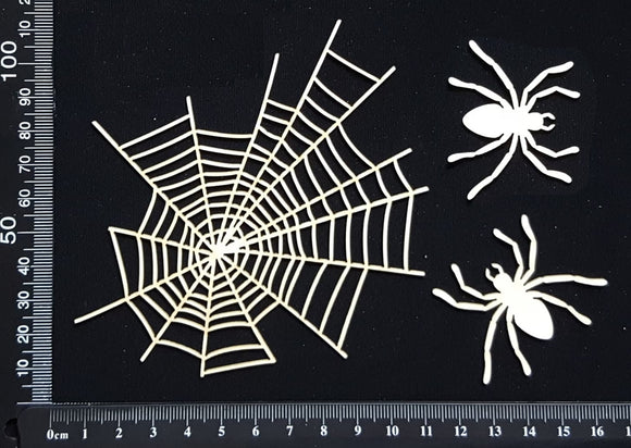 Spiders and Web - White Chipboard