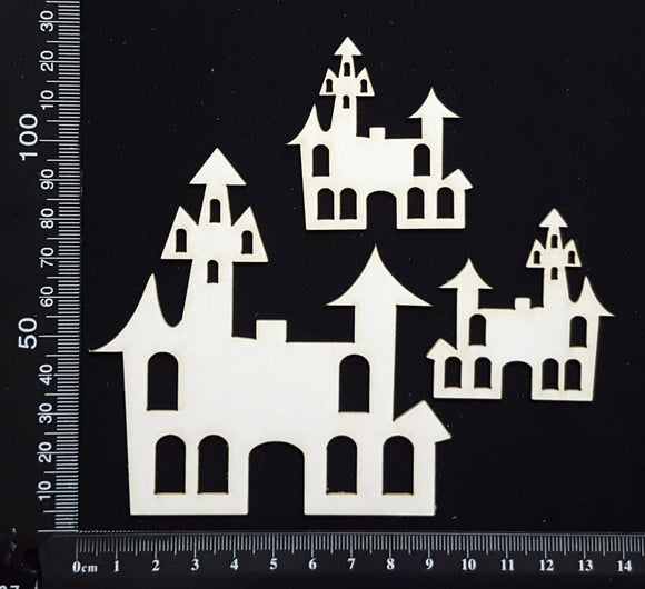 Spooky Houses - White Chipboard
