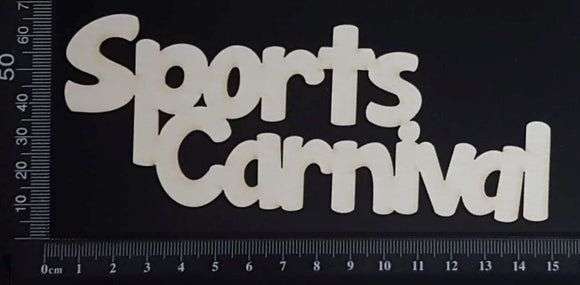 Sports Carnival - Large - White Chipboard