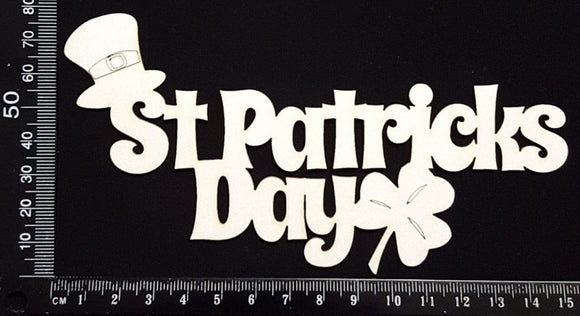 St Patricks Day - A - White Chipboard