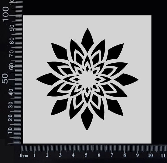 Star Flower - B - Stencil - 100mm x 100mm