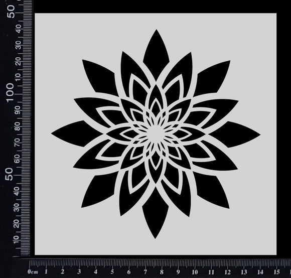 Star Flower - B - Stencil - 150mm x 150mm