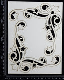 Star Corners - A - Large - White Chipboard