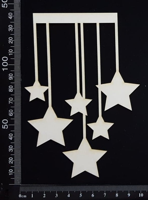Star Strings - White Chipboard