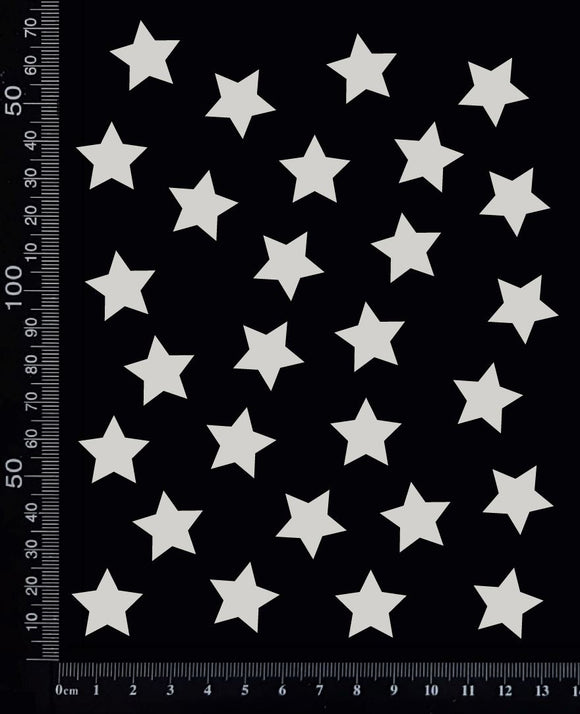 Stars Set - F - White Chipboard