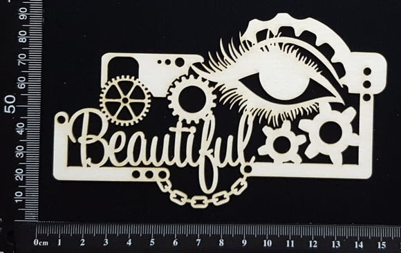 Steampunk Beautiful - White Chipboard