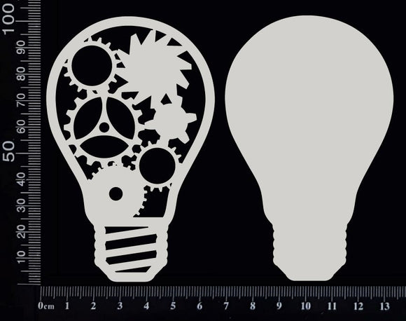Steampunk Bulbs Set - B - Layering Set - White Chipboard