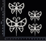 Steampunk Butterfly Set - D - White Chipboard