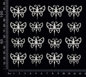Steampunk Butterfly Set - E - White Chipboard
