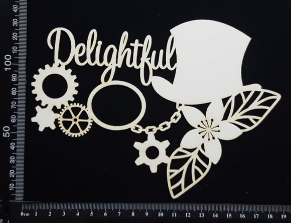 Steampunk Delightful - White Chipboard