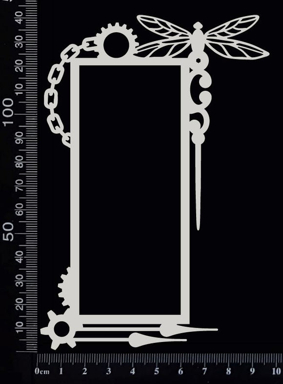 Steampunk Frame - K - White Chipboard