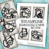 Steampunk Journaling Cards - Set One - DI-10027 - Digital Download