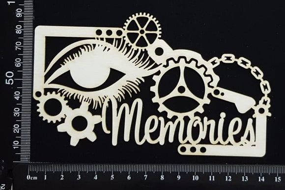 Steampunk Memories - White Chipboard