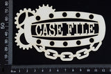 Steampunk Title Plate - FC - Case File - White Chipboard