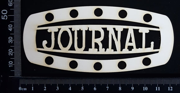 Steampunk Title Plate - GH - Journal - White Chipboard