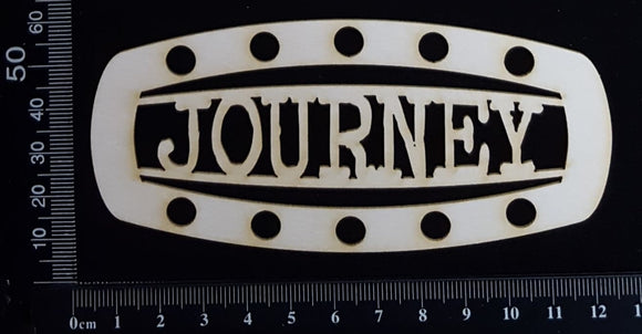 Steampunk Title Plate - GI - Journey - White Chipboard