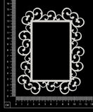 Stephanie Frame - Rectangle - Large - White Chipboard