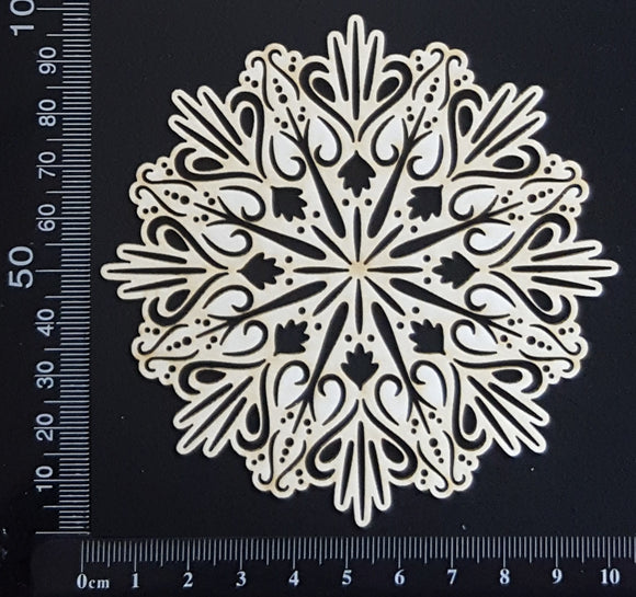 Sundial Doily - Small - White Chipboard