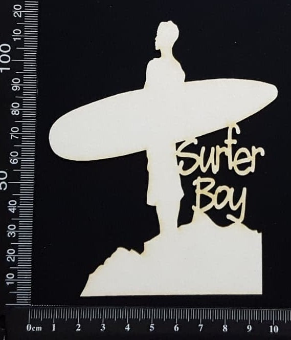 Surfer Boy - White Chipboard