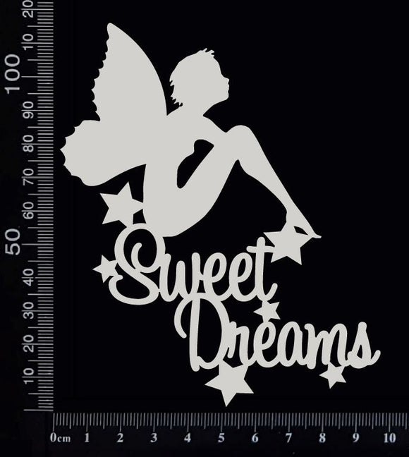 Fairy Title - Sweet Dreams - C - White Chipboard