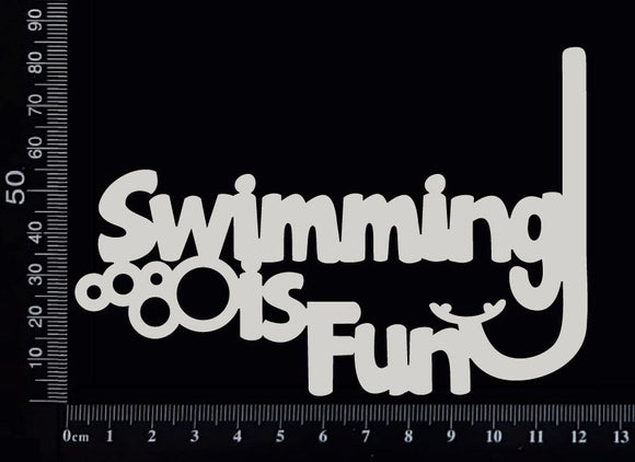 Swimming is Fun - B - White Chipboard