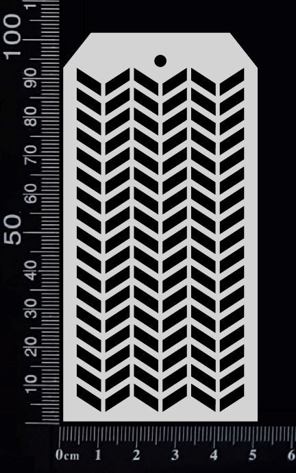 Tag Stencil - Chevron - 50mm x 100mm