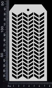 Tag Stencil - Chevron - 75mm x 150mm