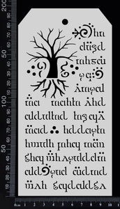 Tag Stencil - Elvish - 100mm x 200mm