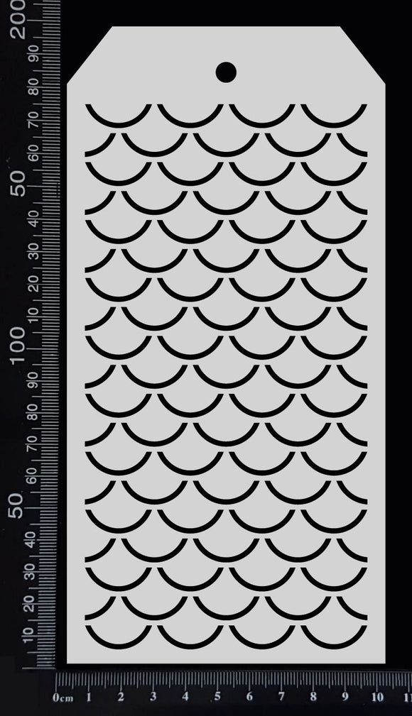 Tag Stencil - Fish Scales - 100mm x 200mm