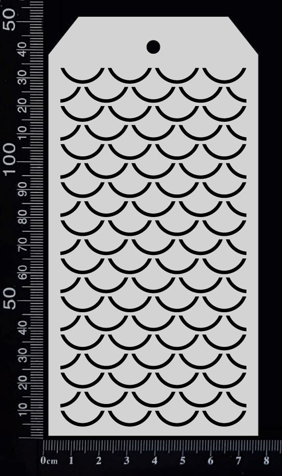 Tag Stencil - Fish Scales - 75mm x 150mm