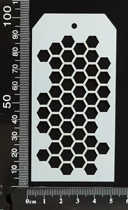 Tag Stencil - Honeycomb - 50mm x 100mm