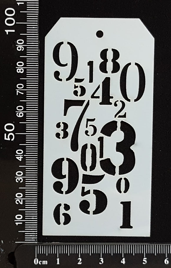 Tag Stencil - Numbers - 50mm x 100mm