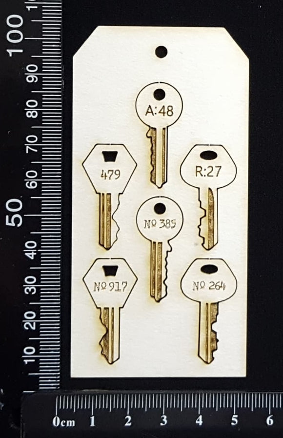 Tag of Elements - Laser Engraved Keys - White Chipboard