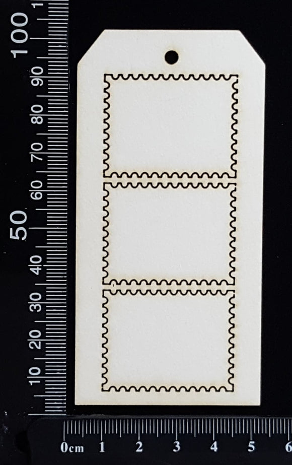 Tag of Elements - Stamps - White Chipboard