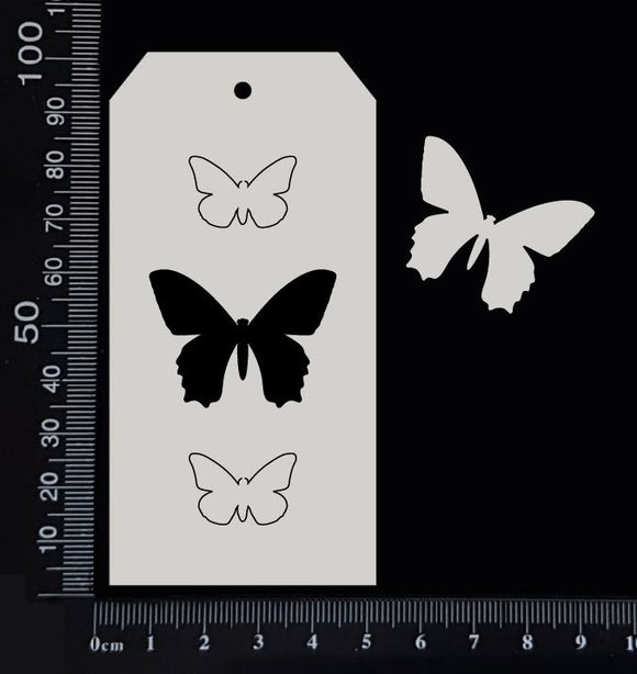 Tag of Elements - Butterflies - A - White Chipboard