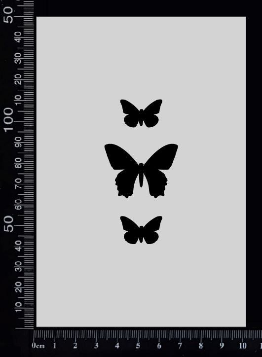 Tag of Elements Butterflies - AD - Stencil - 100mm x 150mm