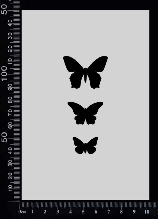 Tag of Elements Butterflies - BE - Stencil - 100mm x 150mm
