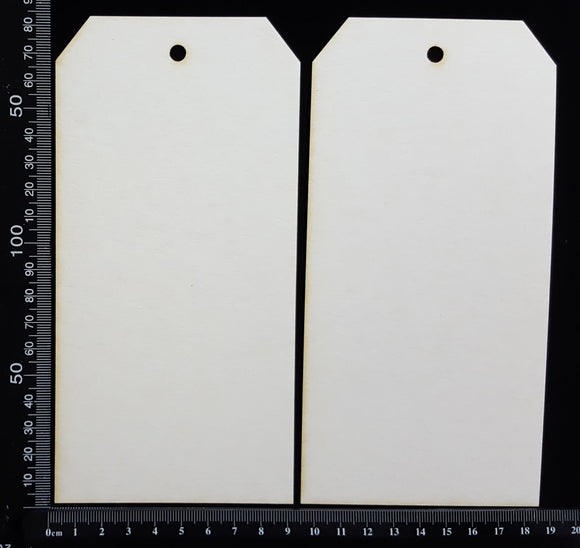 Tags Set - C - Large - White Chipboard