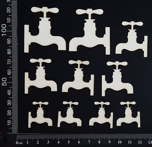 Taps Set - White Chipboard