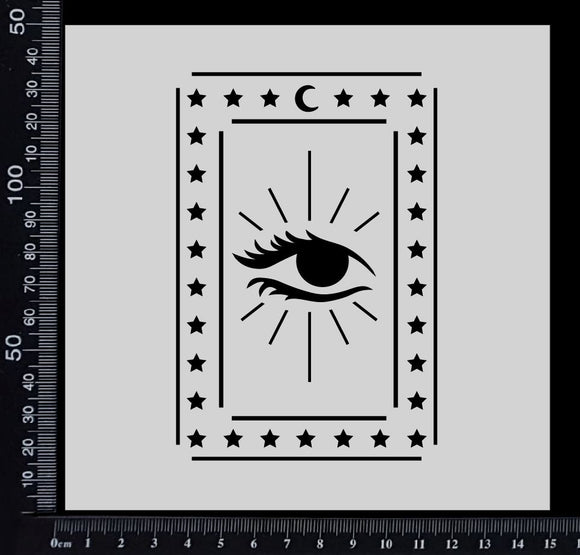 Tarot Card - Eye - Stencil - 150mm x 150mm