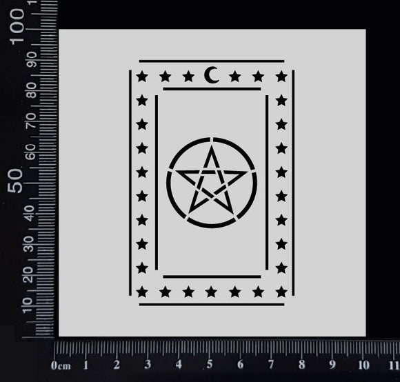 Tarot Card - Pentagram - Stencil - 100mm x 100mm