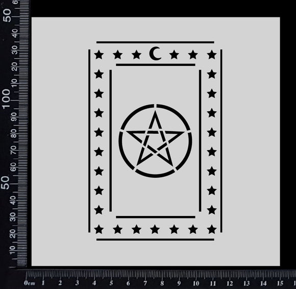 Tarot Card - Pentagram - Stencil - 150mm x 150mm