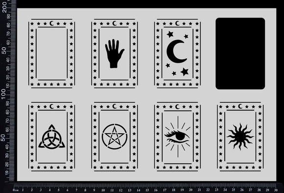 Tarot Card Set - Stencil - 200mm x 300mm