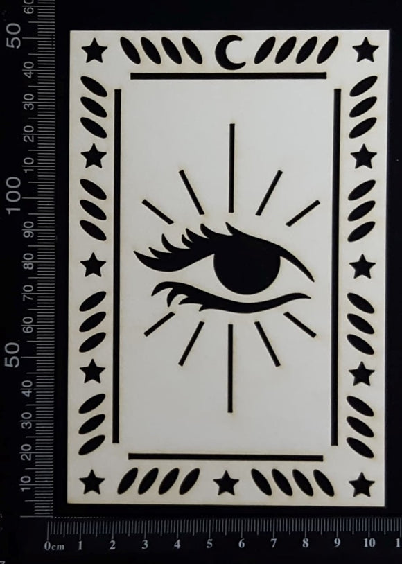 Tarot Card - Eye - B - Large - White Chipboard