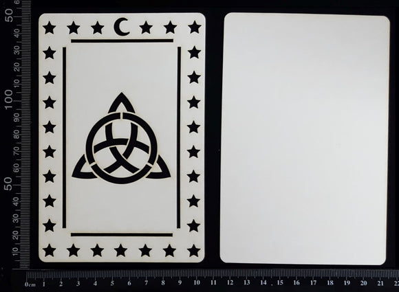 Tarot Card - Triquetra - A - Large - Layering Set - White Chipboard