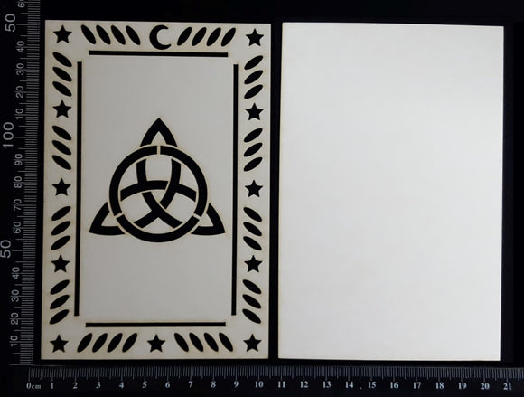 Tarot Card - Triquetra - B - Large - Layering Set - White Chipboard
