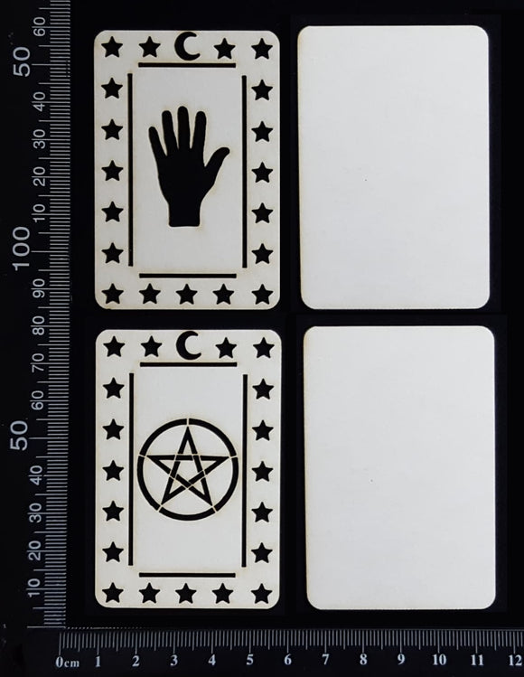 Tarot Card Set - A - Layering Set - Small - White Chipboard